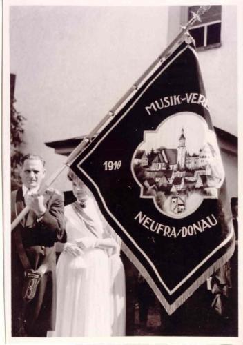 Fahnenweihe der Vereinsfahne 1952