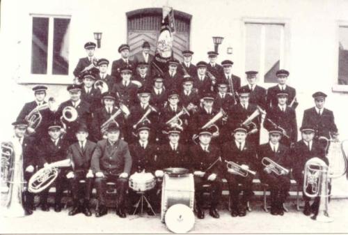 Der Musikverein im Jahre 1971